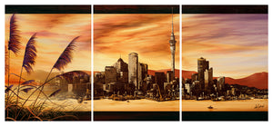 City Dawn - Canvas Triptych Print