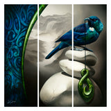 Lonesome Shadows - Canvas Triptych Print