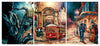 New Orleans - Canvas Triptych Print