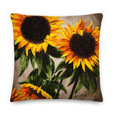Square Pillow - Sunflower Splendor