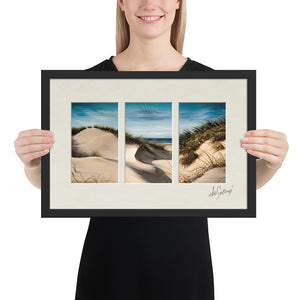 FRAMED - Fine Art Triptych - Sanddune Shadows