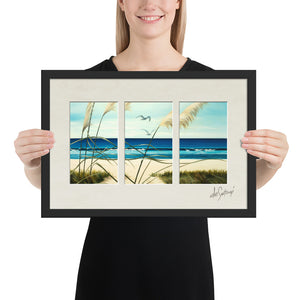 FRAMED - Fine Art Triptych - Summer's End