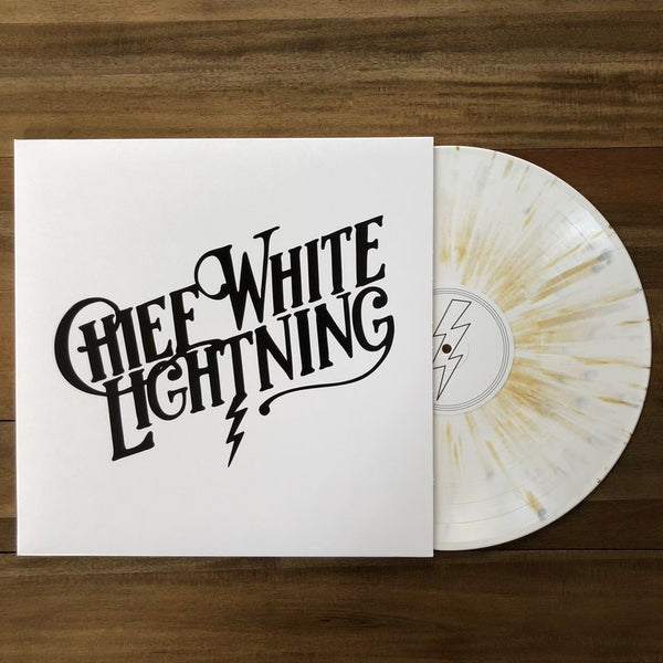 CHIEF WHITE LIGHTNING · CHIEF WHITE LIGHTNING GOLD SPLATTER VINYL/T-SHIRT BUNDLE