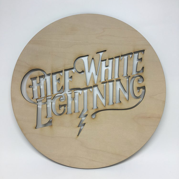 CHIEF WHITE LIGHTNING · STENCIL