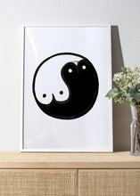 Load image into Gallery viewer, BOOB YIN YANG Art Print