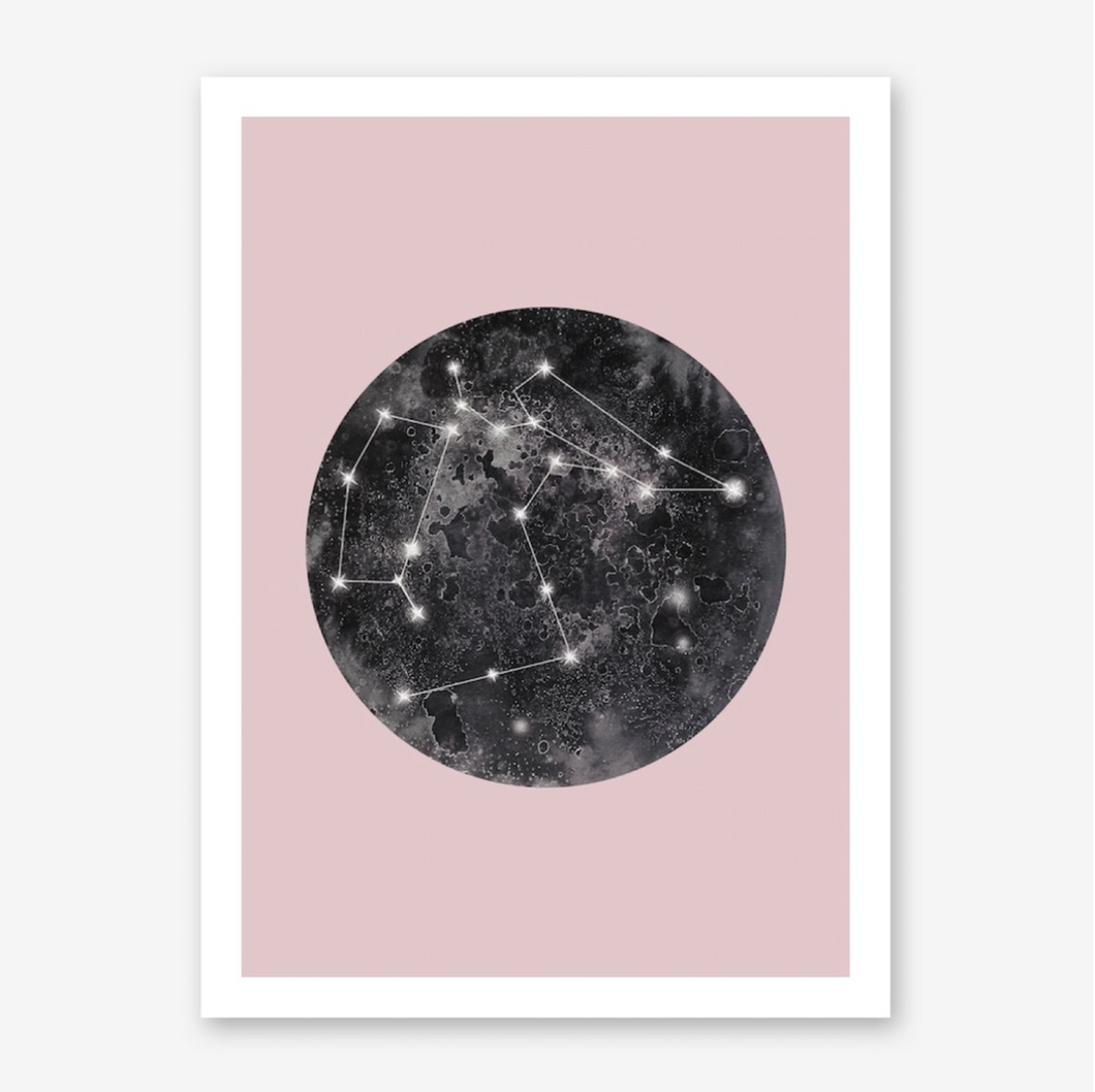 CONSTELLATION PINK Art Print