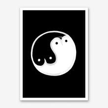 Load image into Gallery viewer, BOOB YIN YANG BW Art Print