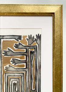 GOLD HANDS Framed Original