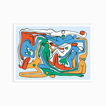 Load image into Gallery viewer, ECSTATIC NUDES 3 BLUE Art Print