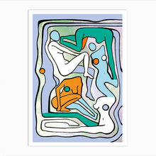 Load image into Gallery viewer, ECSTATIC NUDES 6 GREEN Art Print