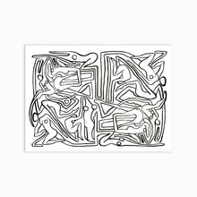 Load image into Gallery viewer, ECSTATIC NUDES 8 MAZE Art Print