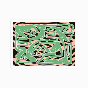 ECSTATIC RED LIGHT GREEN Art Print