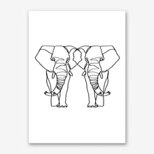 Load image into Gallery viewer, ELEPHANT LINES Art Print