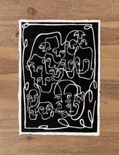Load image into Gallery viewer, FACE BOOK 2 Linocut Art Print