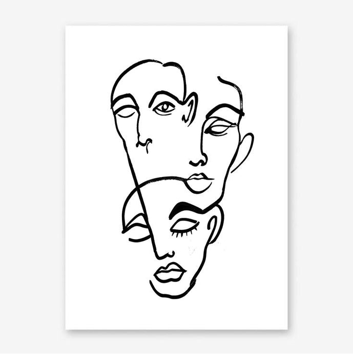 FACES 12 Art Print