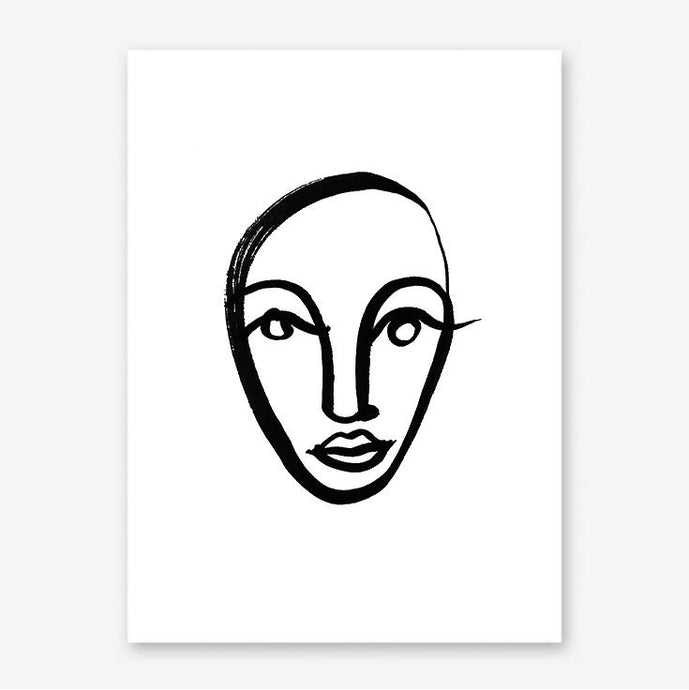 FACES 4 Art Print
