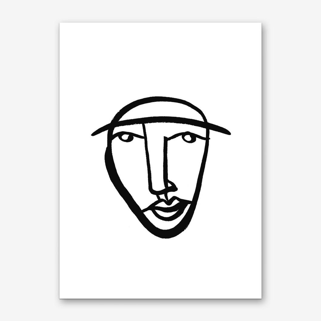 FACES 8 Art Print