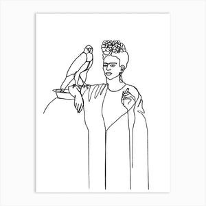 FRIDA AND FALCON Art Print