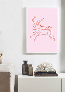 FRIDA WOUNDED DEER Art Print