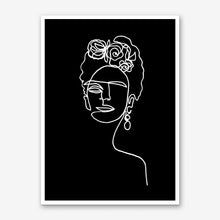 Load image into Gallery viewer, FRIDA KAHLO BW Art Print