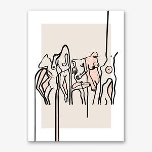 NUDISTS Art Print