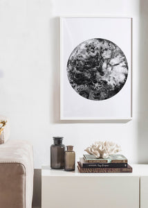 BLACK MOON Art Print
