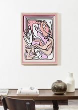Load image into Gallery viewer, ECSTATIC NUDES 5 PINK Art Print