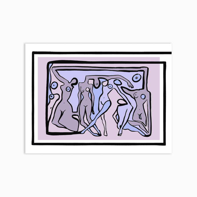 PSYCHEDELIC NUDES LILAC Art Print