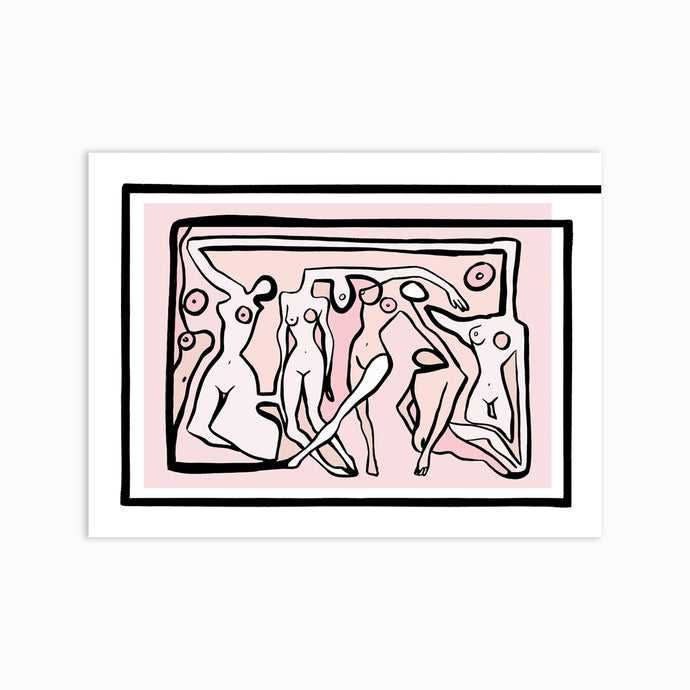 PSYCHEDELIC NUDES Art Print