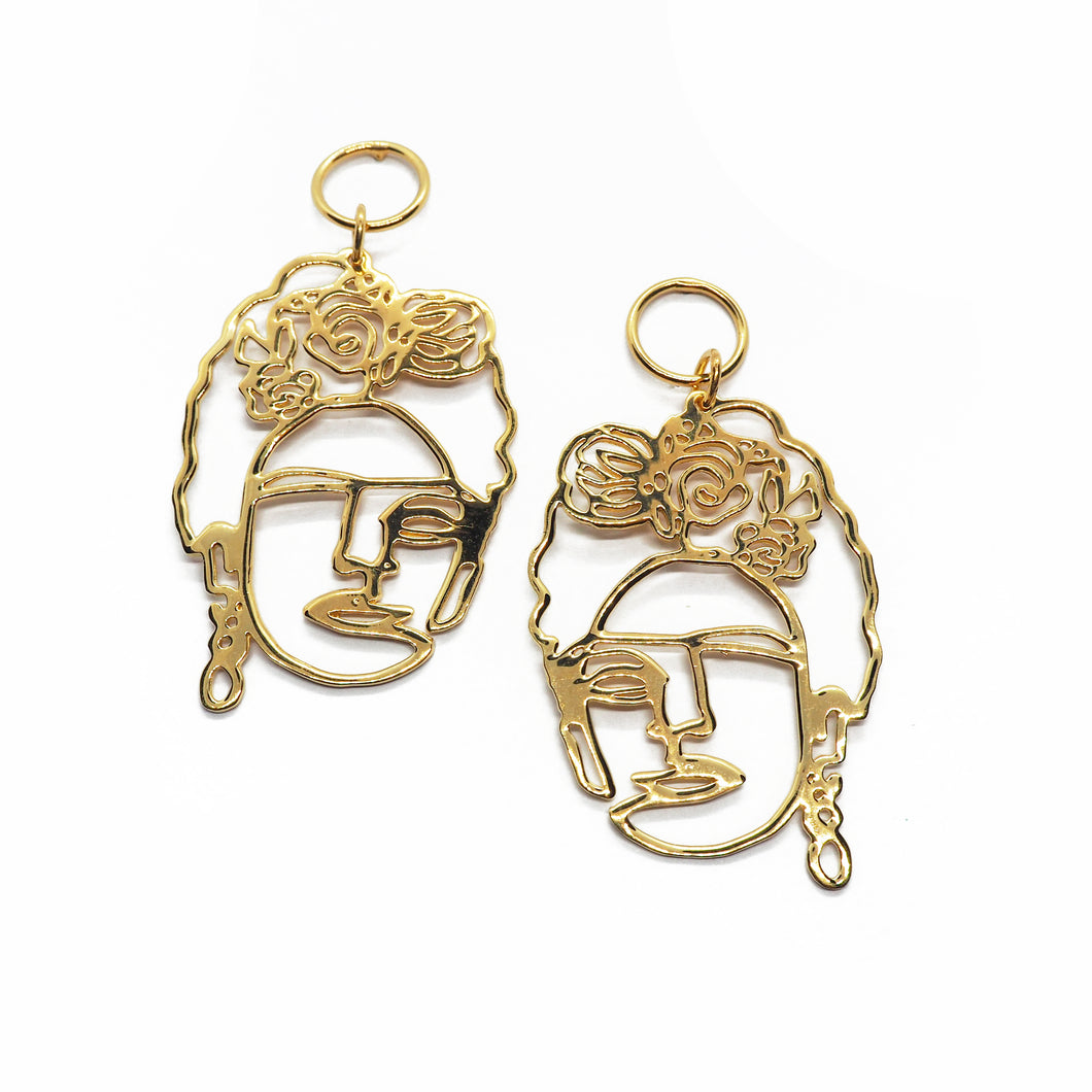 FRIDA KAHLO Gold Earrrings