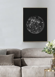 CONSTELLATION BLACK Art Print