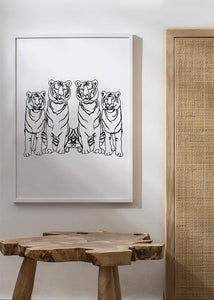 SINGLE TIGER SQUAD Art Print