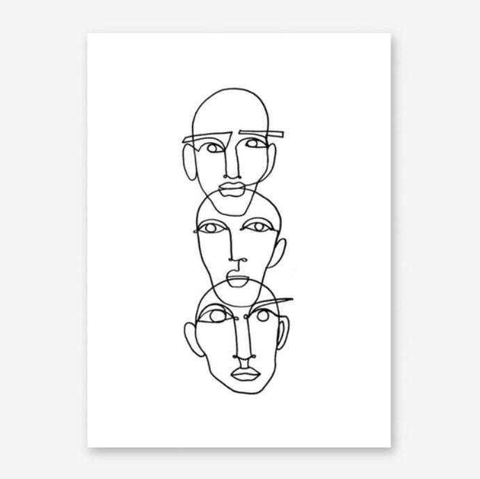 THREE Art Print
