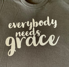 "Load image into Gallery viewer, ""EVERYBODY NEEDS GRACE"" Men's/Unisex Gray T-Shirt"