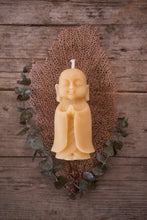 "Load image into Gallery viewer, 5"" Standing Buddha Beeswax Candle"
