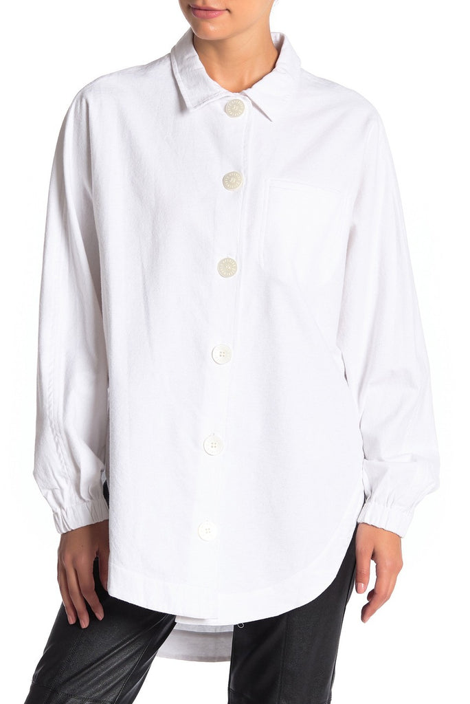 Elastic Button-up Shirt