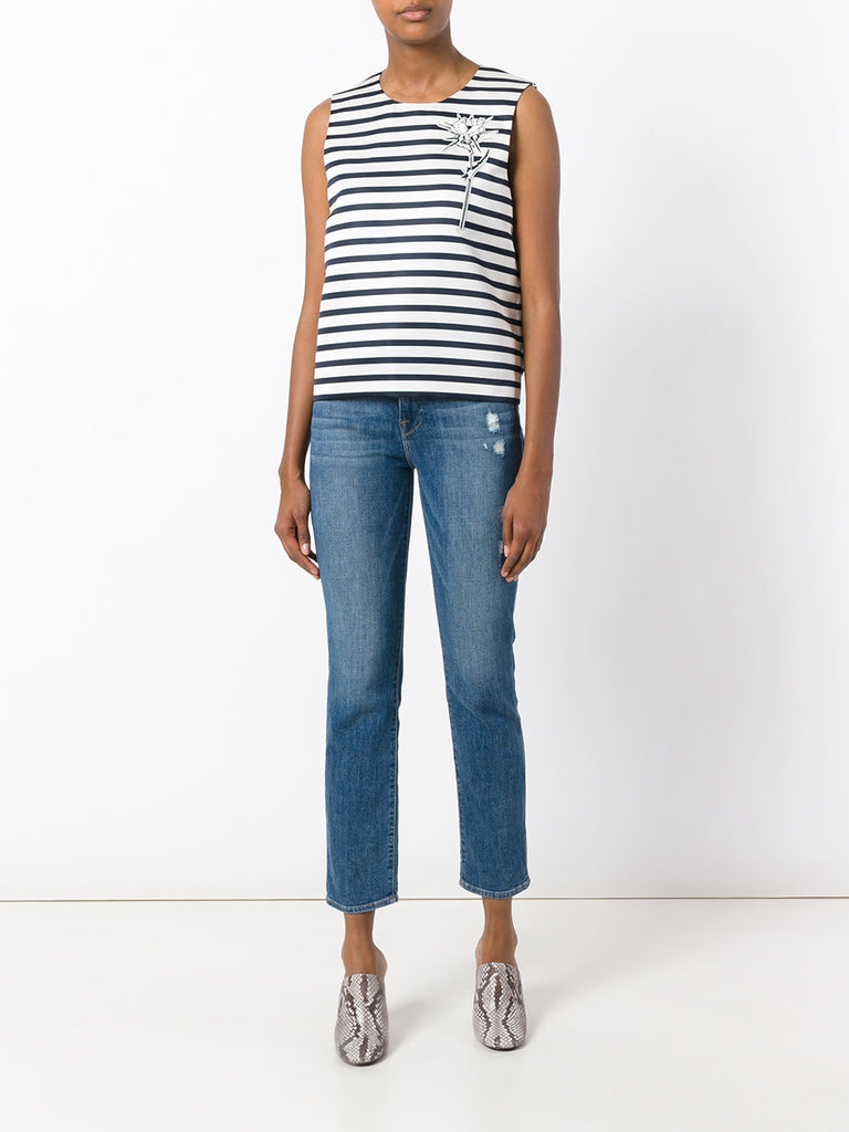 Carven Stripe Rows Top