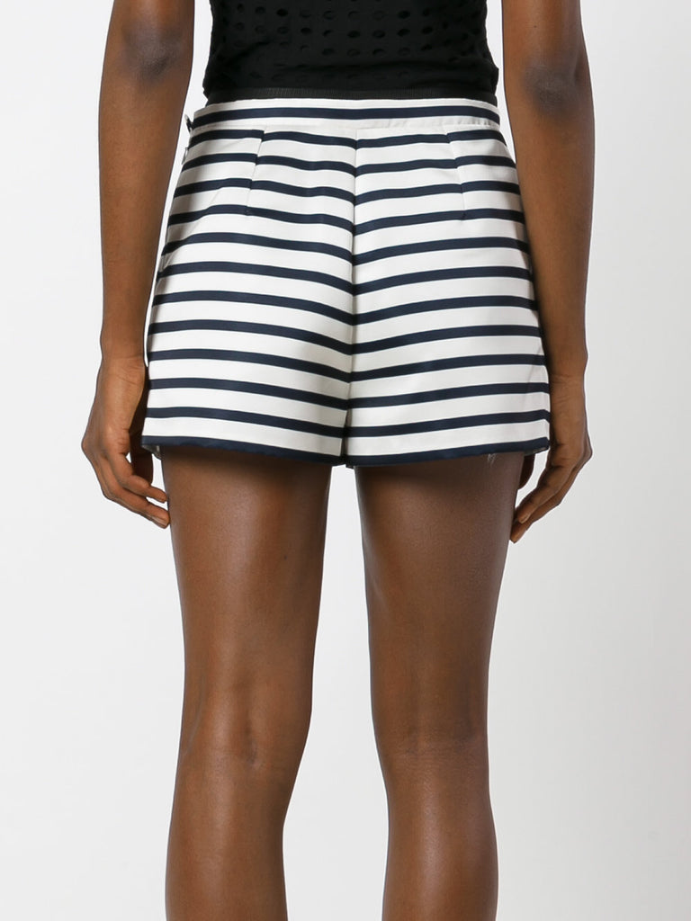 Carven Pinstripe Row Shorts