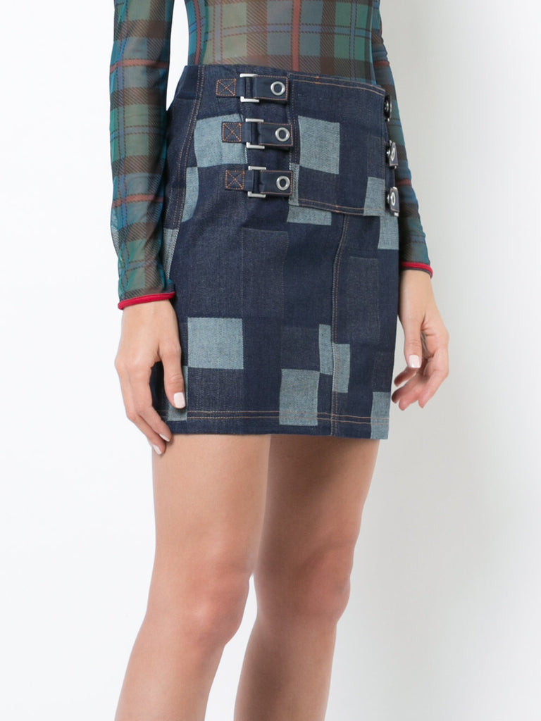 Denim Tab Skirt