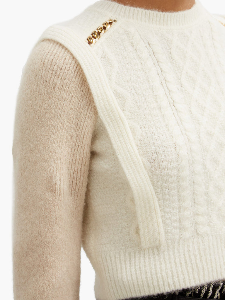 Contrast Colour Knit Jumper