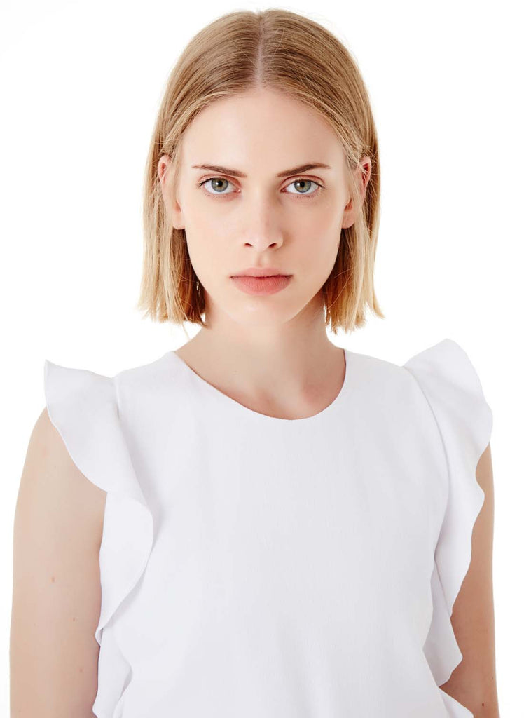 CARVEN CREPE TOP