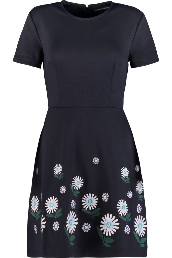 Ditsy Embroidered  Heidi Dress