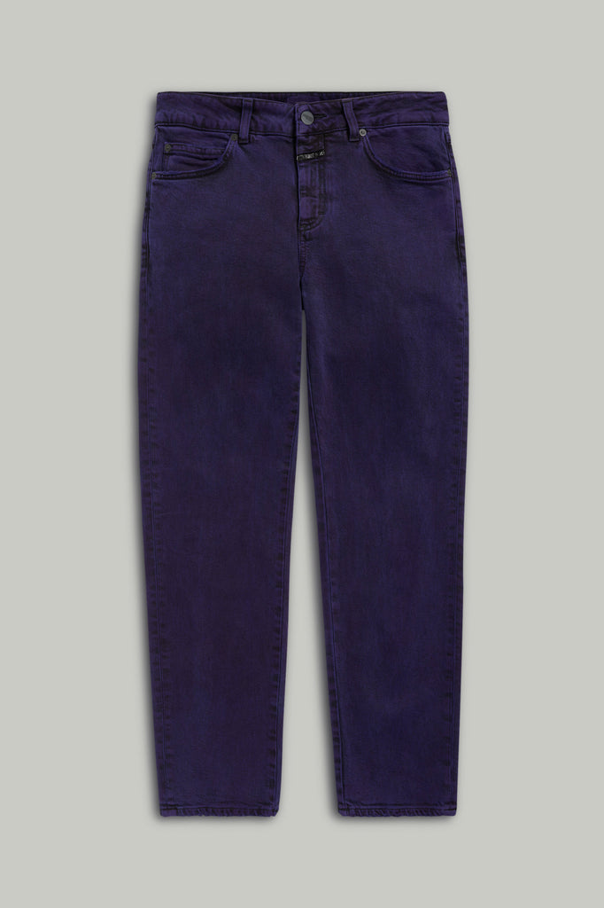Jay Purple Black Stretch Denim