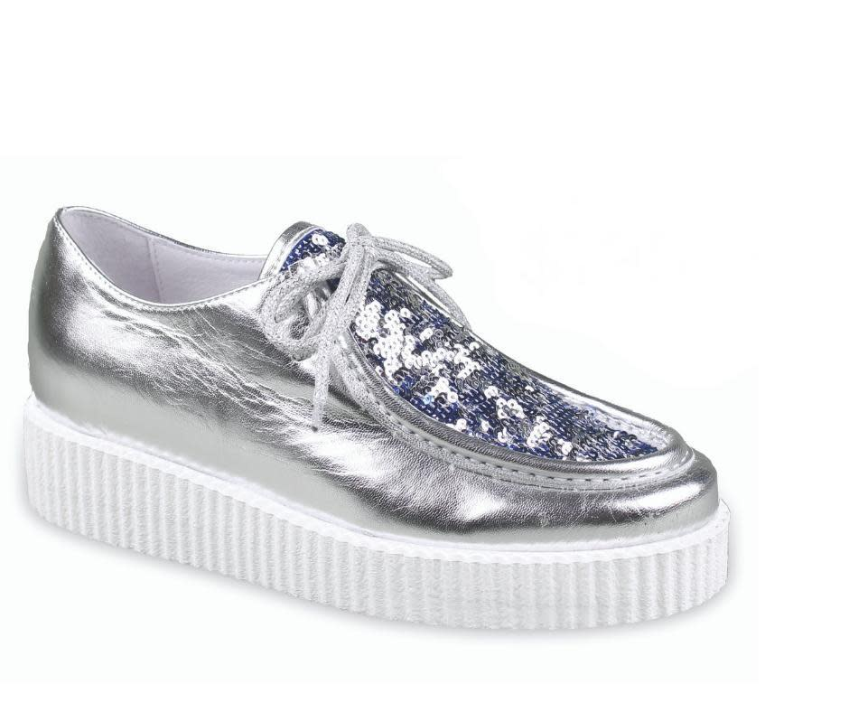 Silver Shearling Sneackers