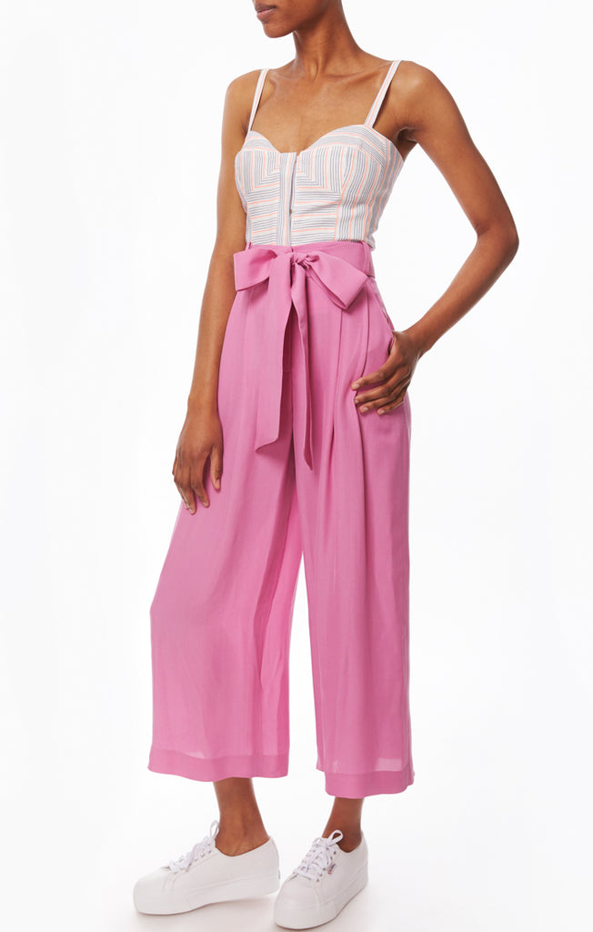 Cropped Natalie Pant Pink