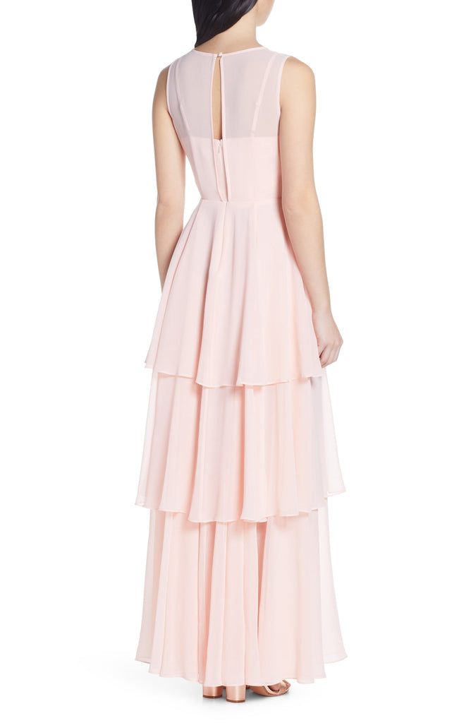 Sheer Tiered Gown