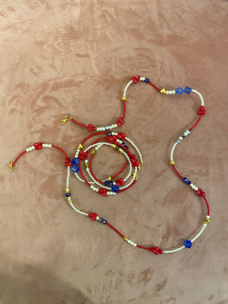Red Face Mask Chain