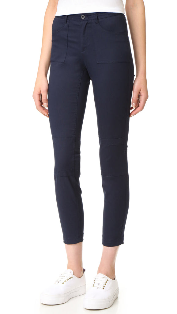 Stretch Twill Moto Pants