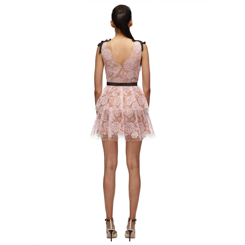 Starlet Mini Rose Lace Dress