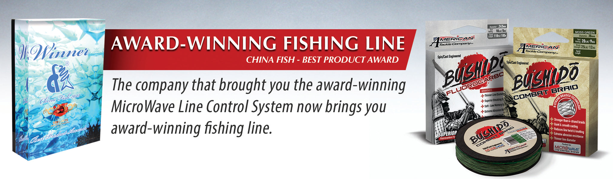 Award Winning Bushido Fishing Line by American Tackle Company